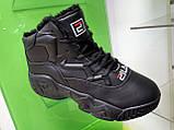 Жіночі зимові черевики Fila MB Mesh Black Leather, фото 2