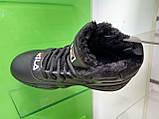 Жіночі зимові черевики Fila MB Mesh Black Leather, фото 6