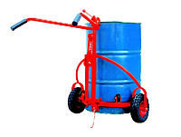 Тележка с захватом для бочек Skiper SHD-08, резиновые колеса Ф260 мм, нагрузка 300 кг, фото 1