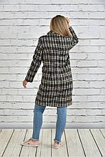 Женское однобортное пальто демисезонное очень большие размеры 42-74, фото 2