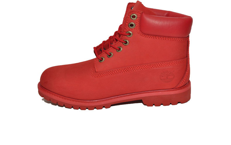 Женские ботинки Timberland 6 inch All Red (Термо) (Реплика ААА класса) - a04ef85a931f7