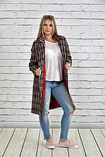 Женское однобортное пальто демисезонное очень большие размеры 42-74, фото 3