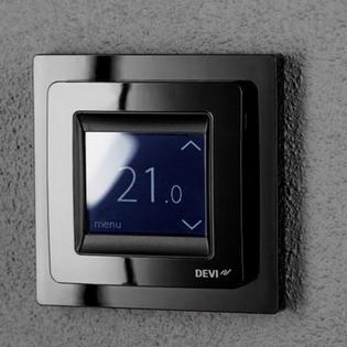 Терморегулятор DEVIreg Touch черный для теплого пола