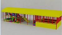 Детский игровой лабиринт 15х5х3 с батутной ареной, фото 1