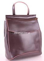 Женский кожаный рюкзак 10136 Coffee кожаные женские рюкзаки недорого купить ff9e36b50b7