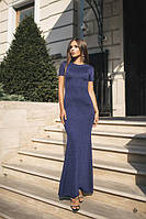 Платье женское в пол с люрексом (К24455), фото 1