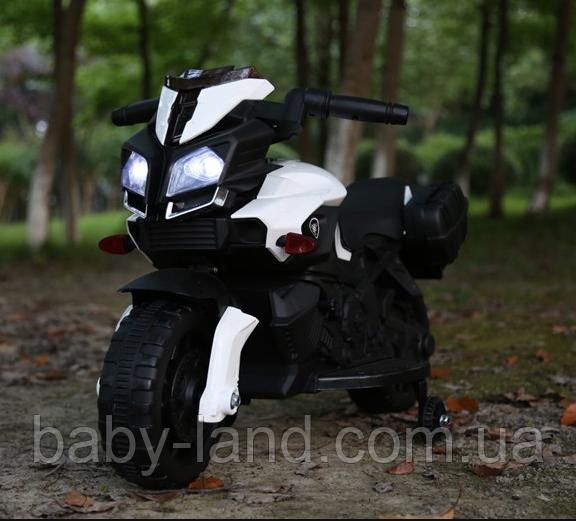 Электромобиль мотоцикл детский аккумуляторный T-7218 WHITE