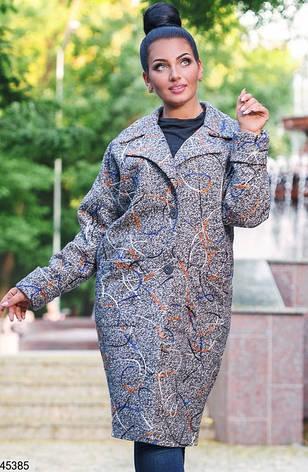 Пальто жіноче напіввовняна розміри:50-52, 54-56, фото 2