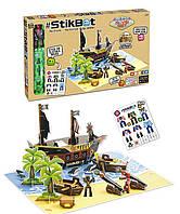 Игровой набор для анимационного творчества Stikbot S2 - Остров Сокровищ стикбот + наклейки + аксессуары