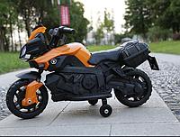 Электромобиль мотоцикл детский аккумуляторный  T-7218 ORANGE
