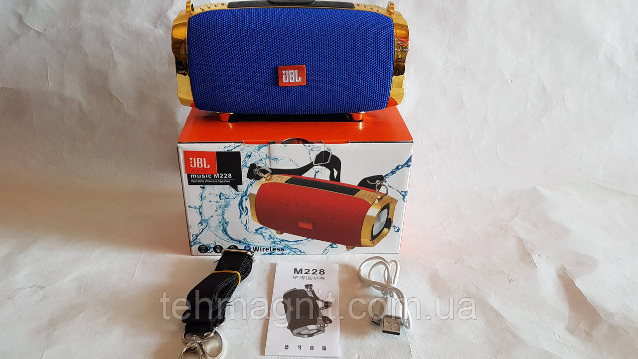 Портативна акустика M-228,MP-3,USB,FM,bluetooth ( Репліка )