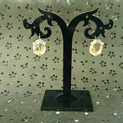 Повседневные серьги с камнем, Minmin. Золото