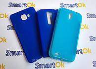 Original Silicon Case Samsung A310 (A3-2016) Blue чехол накладка силиконовая