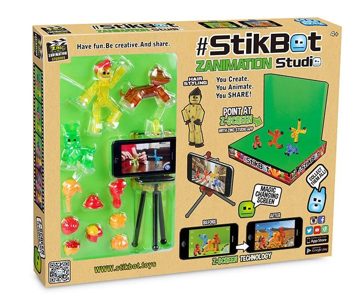 Игровой набор для анимационного творчества Stikbot Pets - Студия Z-Screen 1 стикбот+ 2 стикпета + штатив
