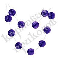Гирлянда праздничная Шары соты (фиолетовый 0021)