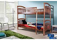 Ліжко двоярусне Кіра (темний горіх) 80*200