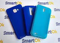 Original Silicon Case Samsung J700 (J7) Blue чехол накладка силиконовая