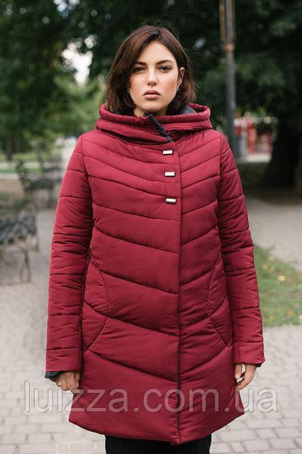 981db25bc9163 Женская зимняя куртка, батал 54-66р бордо - Luizza-Луиза женская одежда  больших