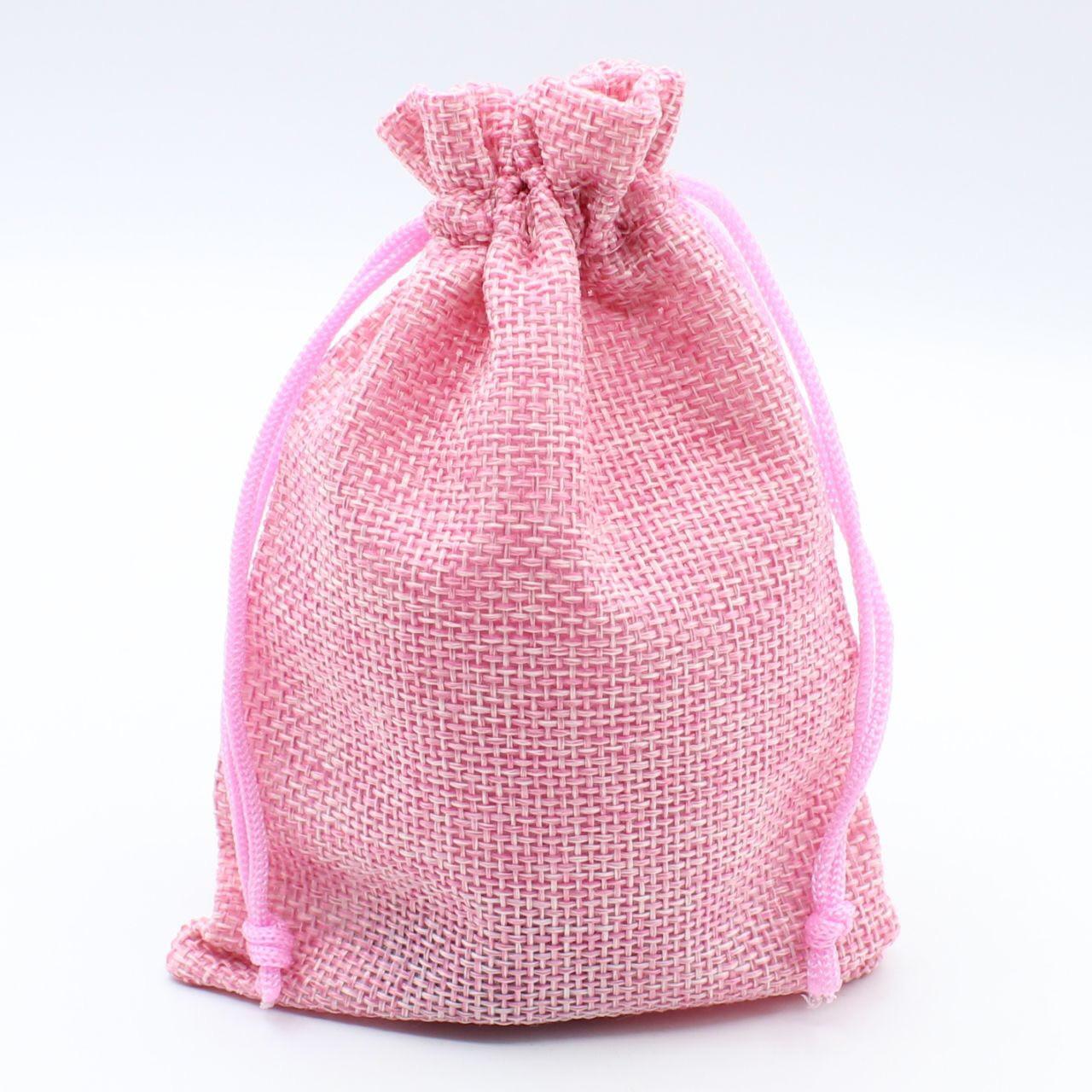 """Мешочек подарочный """"Ткань розовый однотонный 14х10 см"""""""