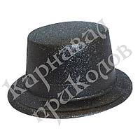 Шляпа Цилиндр блестящая (черный)