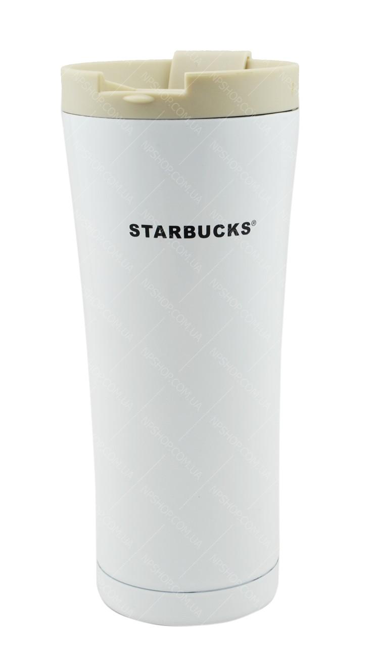 Термокружка Starbucks 500 мл металлическая белый