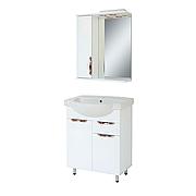 Комплект мебели для ванной комнаты Альвеус Т-65-08А-З-65-01 с зеркалом ПИК