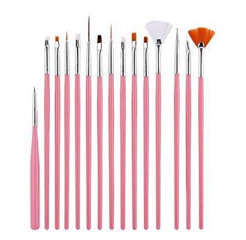 Набор из 15 кистей для ногтей Beauties Factory All Rounded Fine Nail Art Drawing & Painting Brush Set