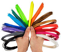 Набор PLA пластика заряд для 3D ручки 10 цветов 100 метров, фото 1