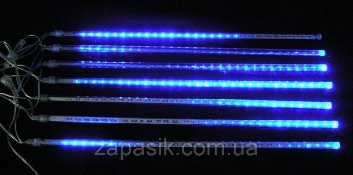 Внутренняя Светодиодная Гирлянда Тающие Сосульки LED 50 см Бегущая Капля Синий