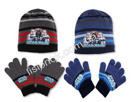 Комплект шапка з рукавичками Star Wars від Disney, відмінна якість, на вік 2-4 роки