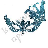 Венецианская маска Баттерфлай (голубая), фото 1