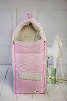 Конверт для новорожденной девочки, нежно-розовый