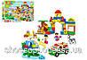 Детский конструктор JDLT Зоопарк 72 крупные детали, транспорт, фигурки