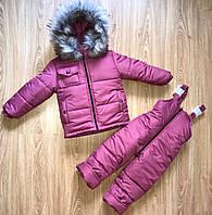 Комбинезон зимний для девочки на 3-5 года, фото 1