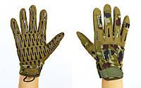 Перчатки тактические с закрытыми пальцами BLACKHAWK (р-р L-XL, камуфляж Woodland)