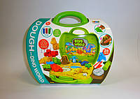 "Набор для творчества - тесто для лепки ""Динозаврики"" в чемоданчике, фото 1"