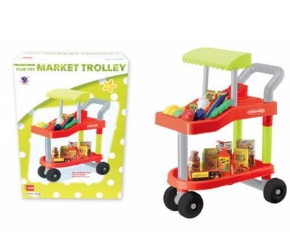 Детская тележка из супермаркета 14053 с продуктами
