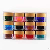 Набор витражных цветных гелей 12 шт