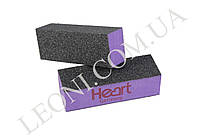 Бафик для ногтей Heart фиолетовый 80/80