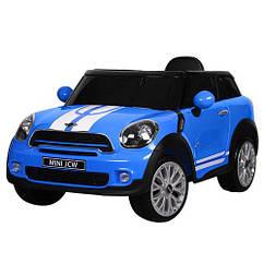 Электромобиль р/у, 2,4G, 2 мотора, 2 аккум.6V7A, кож.сид., колеса ЕВА, USB, MP3, синий(1шт)