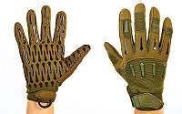 Перчатки тактические с закрытыми пальцами BLACKHAWK (р-р L-XL, оливковый)
