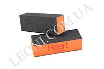 Баф для ногтей Heart оранжевый 100/100