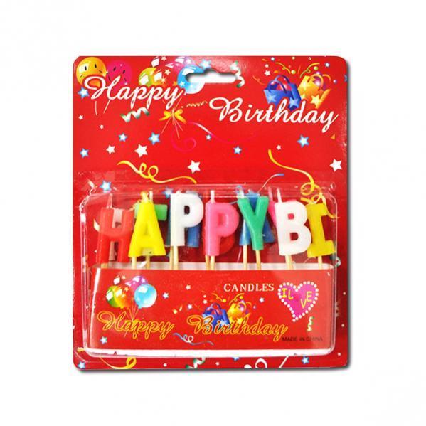 Свечки для торта буквы «Happy Birthday»