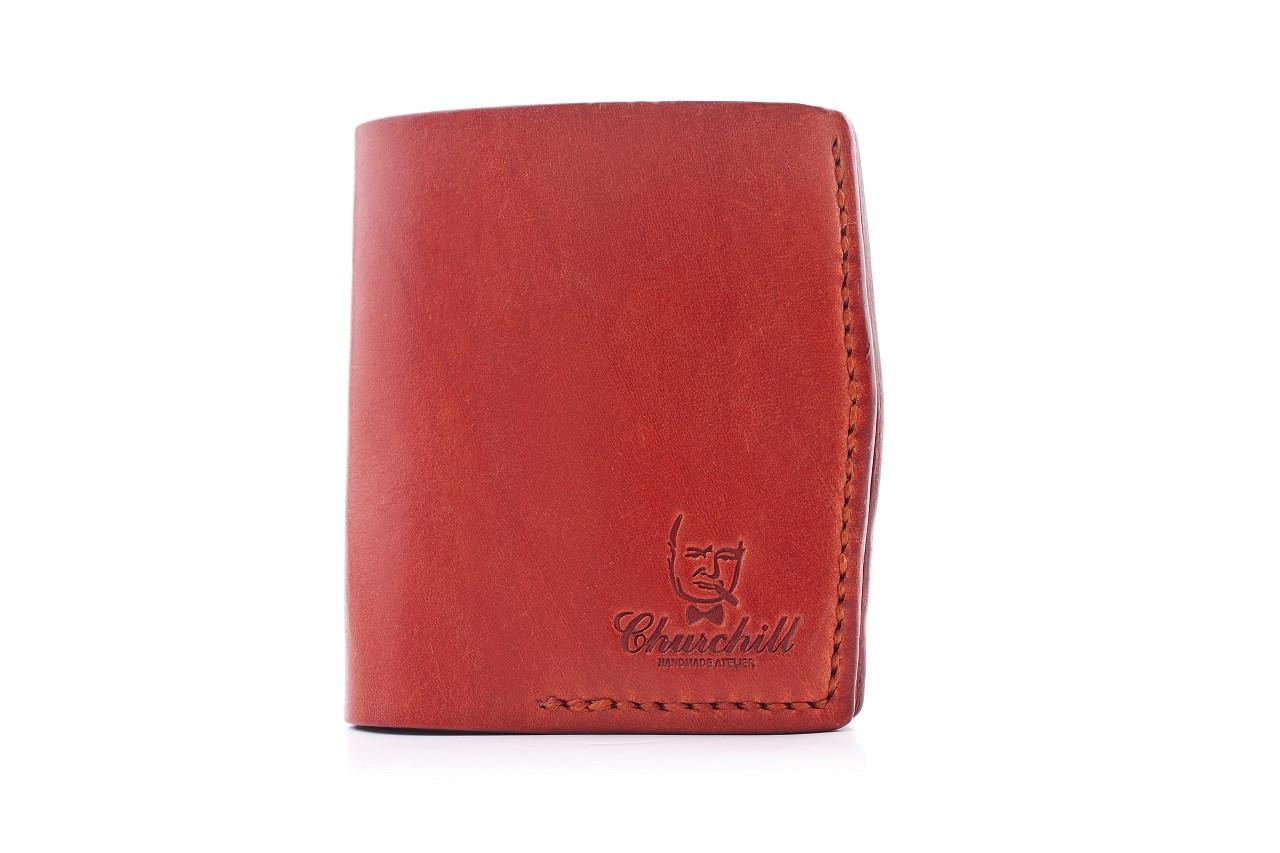 """Портмоне женское компактное с карманом для монет """"Essential ducat"""". Цвет красный"""