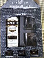 Ирландский виски Bushmills Original 1л в подарочной коробке с 2 стаканами