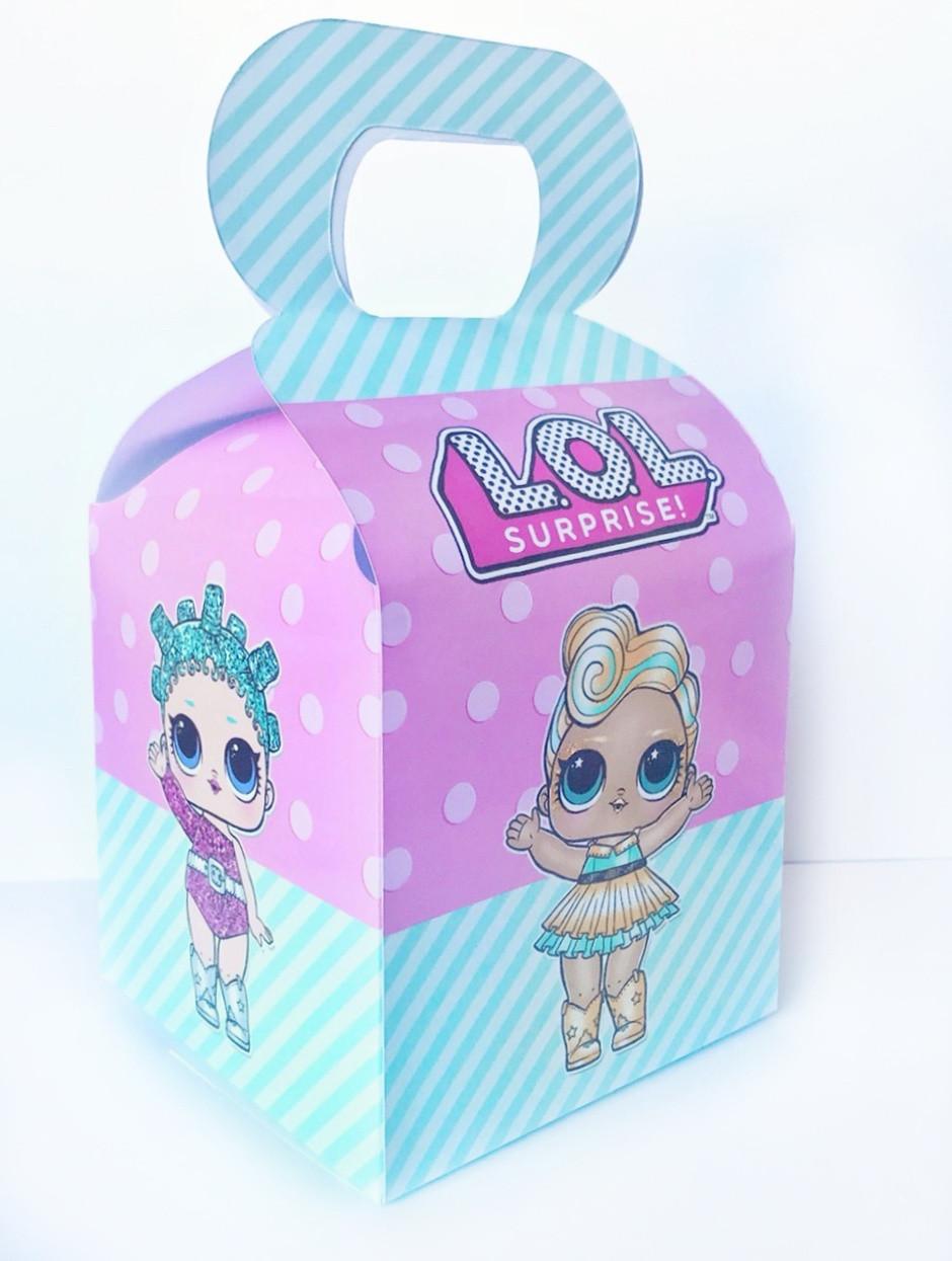 Бонбоньерка куклы Лол lol 10х10х10см