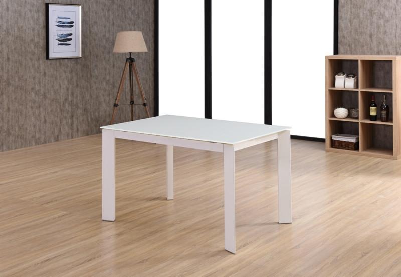 Раздвижной стол Marlow DF505-2T White (супер белый) 120/170