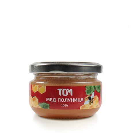 Мед натуральный ТОМ - Клубника (100 грамм)