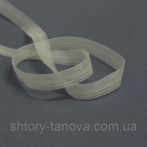 Тесьма для римских штор, с петельками, 18 мм, прозрачная