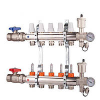 Коллектор  регулировка ручная или терморегулирующая на 7 выходов